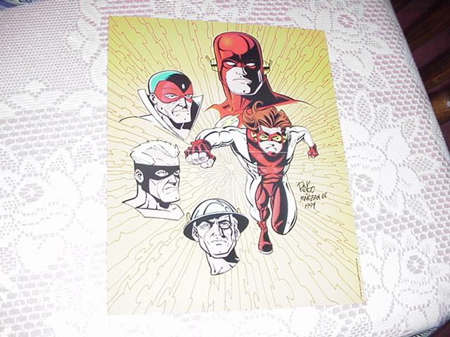 Flash Impulse Jay Garrick Poster Wieringo Dc
